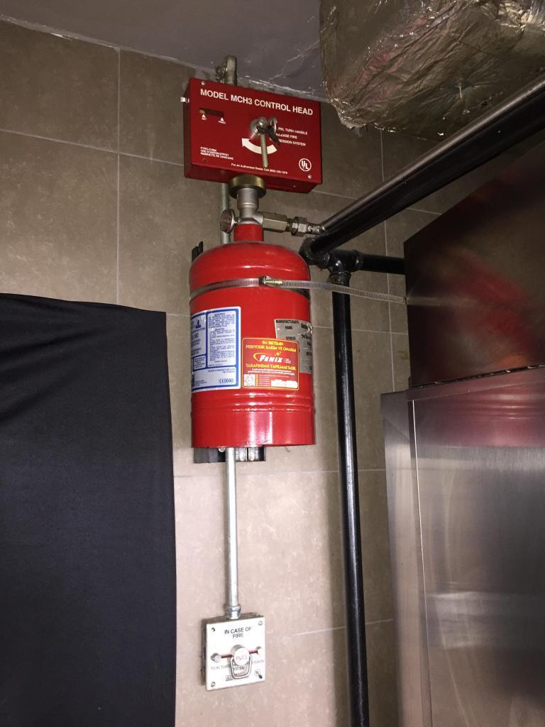 Davlumbaz yangın söndürme sistemi tüpü dolumu