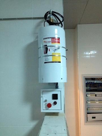 Otomatik davlumbaz yangın söndürme sistemi