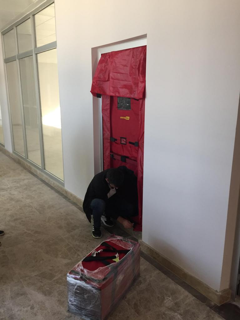 Door fan test oda sızdırmazlık testi