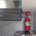 Otomatik davlumbaz içi yangın söndürme sistemi