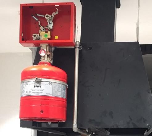 Ul onaylı davlumbaz yangın söndürme sistemi